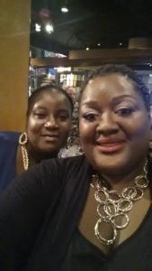 My bestie & I headed to dinner on my birthday