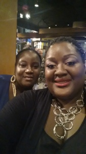 My bestie & I headed to dinner on my birthday